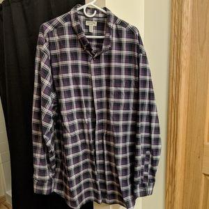 Men's 3XLT Purple Long Sleeve Casual Button Down